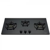 (標準安裝)林內三口內焰玻璃檯面爐鑄鐵爐架黑色LED瓦斯爐RB-N312G(B)