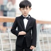 禮服 兒童西裝套裝小西服外套男童禮服igo 晶彩生活