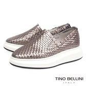 Tino Bellini 品味潮流編織厚底休閒鞋_香檳粉 C63018 2016SS