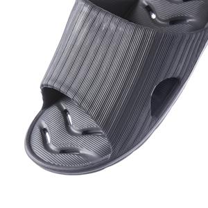 緩壓排水浴室拖鞋94001-灰藍L