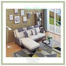 典雅大師-蒂迪爾L型沙發(三+凳)-灰+白色-ZF-1424-3P+ST【多瓦娜】