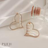 限量現貨◆PUFII-耳環 唯美水鑽珍珠愛心耳環- 0722 現+預 夏【CP18951】
