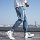 牛仔褲男士寬鬆直筒淺色韓版潮流牌百搭休閒修身小腳夏季長褲子 PA15977『男人範』
