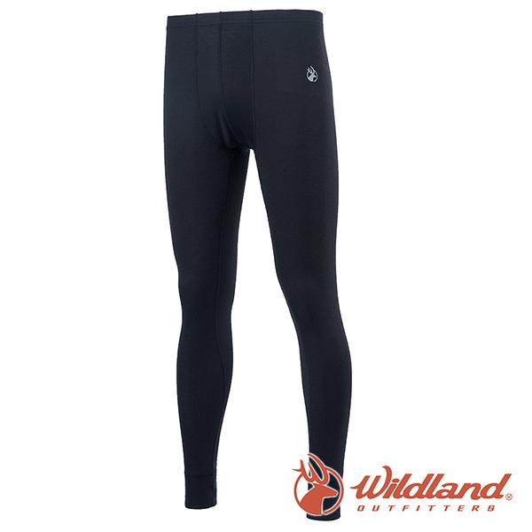 【wildland 荒野】男 Highest彈性保暖褲『黑色』H2676 戶外 休閒 運動褲 冬季 保暖 禦寒 內著