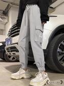 工裝褲 女春寬鬆潮適合大腿根粗的直筒闊腿運動褲子 源治良品