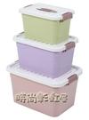 收納箱衣服玩具整理箱塑料有蓋家用衣物儲物盒子特大號清倉三件套MBS「時尚彩紅屋」