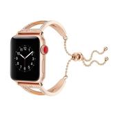 錶帶 適用蘋果apple watch1/2/3手錶錶帶O形金屬鋼手鐲款iwatch3女潮