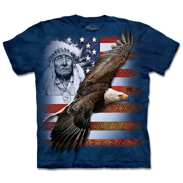【摩達客】 (預購) 美國進口【The Mountain】自然純棉系列 美國精神 T恤(10413045148a)