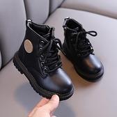 兒童靴子 兒童馬丁靴英倫風女童靴子秋冬季寶寶加絨棉靴中小童皮靴男童短靴 嬡孕哺
