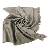 【COACH】C LOGO 羊毛混桑蠶絲巾圍巾禮盒(灰)