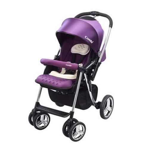 Combi 康貝 Mega Ride DX嬰兒手推車-幻影紫(無腳套板)【贈六層紗四季被】【佳兒園婦幼館】