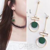 925銀針 耳環女韓國氣質簡約個性木頭長款復古誇張耳墜   草莓妞妞