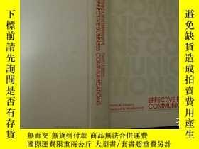 二手書博民逛書店EFFECTIVE罕見BUSINESS COMMUNICATIONS Fourth Edition有效的商務溝通第