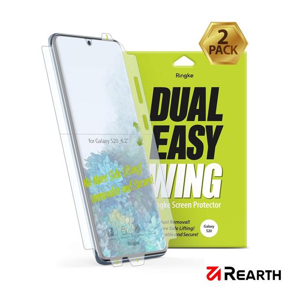 Rearth 三星 Galaxy S20 滿版抗衝擊螢幕保護貼(兩片裝)