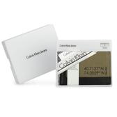 Calvin Klein 經典紐約市政座標單寧多卡短夾(橄欖綠-含帕巾)103085