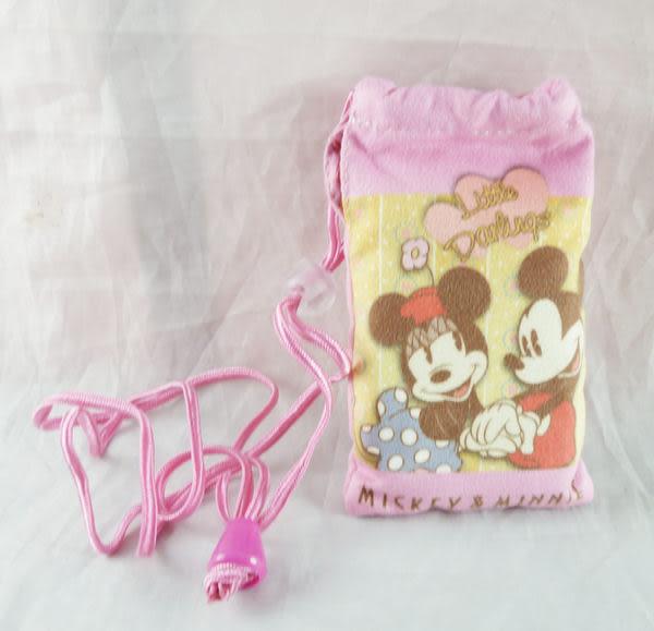 【震撼精品百貨】Micky Mouse 米奇/米妮 ~拉繩收納袋-咖啡色/粉色【共2款】