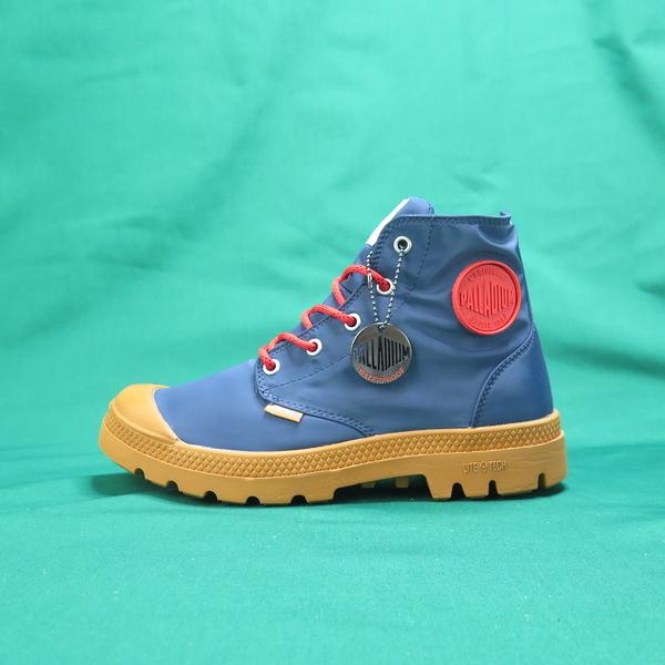 Palladium 高統靴 公司正品 76117482 藍紅色 男女款 附純紅色鞋帶可替換使用【iSport愛運動】