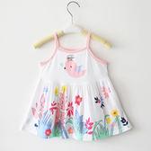 夏款女寶吊帶小裙子兒童背心吊帶裙嬰兒竹纖維洋裝A字裙0-3歲