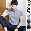 日韓時尚新款口袋設計短袖POLO衫