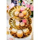 多層3層不銹鋼水果盤創意客廳結婚糖果盤蛋糕架KT《微愛》