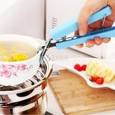 不銹鋼碗盤防燙夾子蒸菜夾端提盤子碟夾子廚房餐具夾微波爐夾   卡菲婭