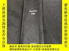 二手書博民逛書店fresenius 罕見zeitschrift für analytische band 322 1985 (費森