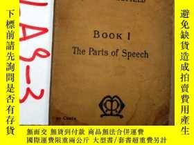 二手書博民逛書店THE罕見PARTS OF SPEECH forfor the lower classes in secondar
