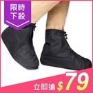 拉鍊式便利加厚耐磨通用防水雨鞋套(1雙入) 2款/3種尺寸可選【小三美日】原價$99