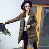 羽絨外套 中長款-時尚純色羊羔毛加厚女夾克73it197[時尚巴黎]