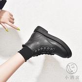 馬丁靴女日系軟妹小靴子秋冬六孔短靴【小酒窩服飾】