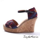 【Joy&Mario】民族風設計時尚厚底涼鞋 - 88053W RED 美碼7