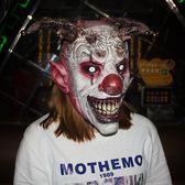萬聖節面具 恐怖鈴鐺小丑頭套萬聖節乳膠小丑面具 俏女孩