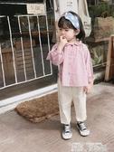 秒殺價女童襯衫橘汁家童裝女童韓版襯衫洋氣春裝寶寶素色長袖襯衣娃娃衫 童趣屋