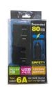 [福利資訊]USB車載充電器,6A + DC 12V/24V ,點菸器X2+USBX4,車用充電器,最大輸出功率6000mA
