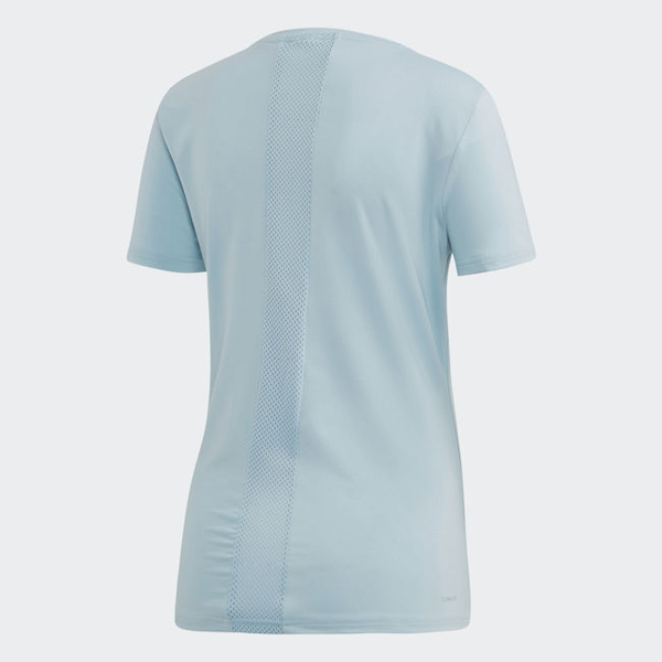 ADIDAS D2M SOLID TEE 女裝 短袖 慢跑 訓練 吸濕 排汗 透氣 藍【運動世界】DU2305