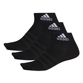 ADIDAS 運動襪 踝襪 LIGHT ANK 3PP 襪子 黑 薄款 透氣 三雙一組 (布魯克林) DZ9436