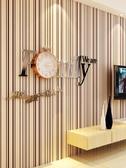 電子掛鐘個性藝術石英時鐘錶靜音歐式現代簡約客廳餐廳 為愛居家