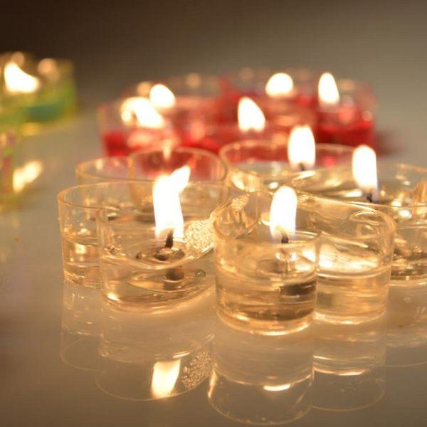 愛心形蠟燭浪漫生日創意錶白求婚道具制造燭光晚餐香薰無煙歐式MJBL