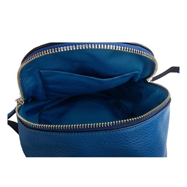 【COACH】經典馬車LOGO荔枝紋皮革後背包(小)(亮藍) F28995 SVA7