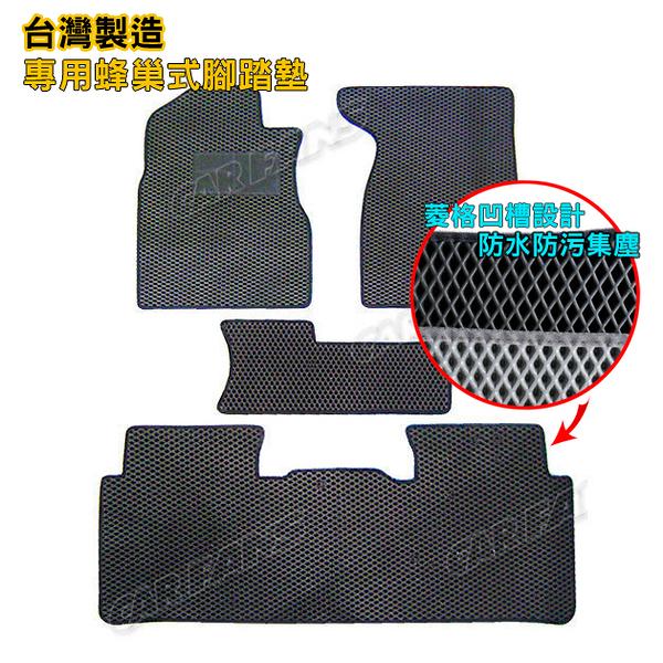 【愛車族購物網】EVA蜂巢腳踏墊 專用型汽車腳踏墊NISSAN - MARCH(全系列) (黑色、灰色 2色選擇)