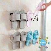 浴室拖鞋架衛生間簡易門后墻壁掛式小鞋架家用經濟型鐵藝收納鞋架xw