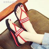 平底涼鞋 新款波西米亞涼鞋女仙女風夏季平底海邊沙灘鞋網紅度假羅馬鞋百搭 夢露時尚女裝