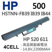 HP 500 4芯 日系電芯 電池 434045-141 434045-621 434045-661 C29C  500 520 611 HSTNN-IB44