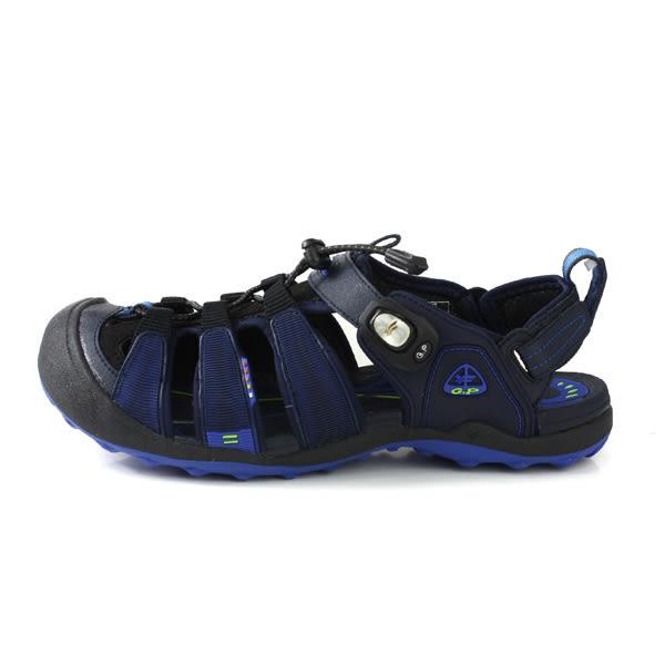 GP (Gold.Pigon) 阿亮代言 涼鞋 護趾 雨天 深藍色 男鞋 G9224M-20 no002