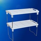 可摺疊桌面置物架分層小型架子廚房雜物整理落地收納架衣櫃隔層架ATF 伊衫風尚