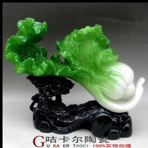 居家裝飾品 玉禮品(財大業大)玉白菜