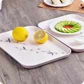 歐式簡約托盤長方形加厚水杯茶具盤家用水果盤蛋糕盤餐具托盤WY【黑五好物節85折】