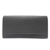 LOUIS VUITTON LV 路易威登 黑色EPI水波紋釦式手拿包(無背帶) Pouch M42732