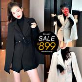 克妹Ke-Mei【ZT56330】韓妞復古風大蝙蝠袖附腰包斗蓬大衣外套