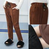 女童褲子加絨加厚冬新款毛呢褲子LJ1661『miss洛羽』